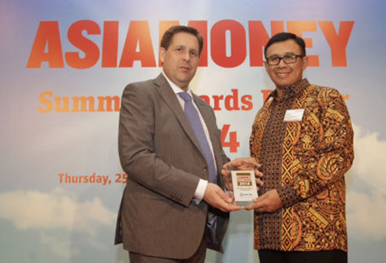 BRI wins The Best Domestic Bank 2014 from Asiamoney
