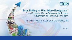 BRI Corporate Presentation: Establishing an Ultra Micro Ecosystem